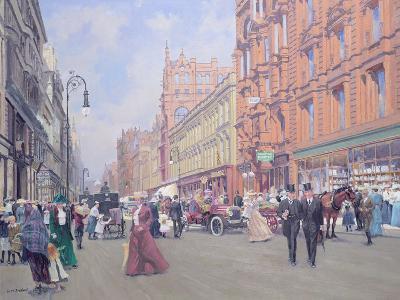 Buchanan Street in 1910'-William Ireland-Giclee Print