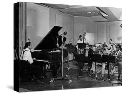 Buck Clayton, Charlie Parker, Dexter Gordon, Charles Thompson, Danny Barker, Jimmy Butts, JC Heard--Stretched Canvas Print