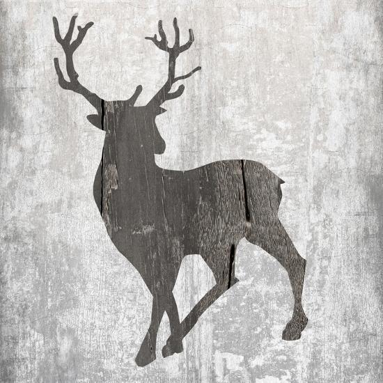 Buck Hunt Gray-Sheldon Lewis-Art Print