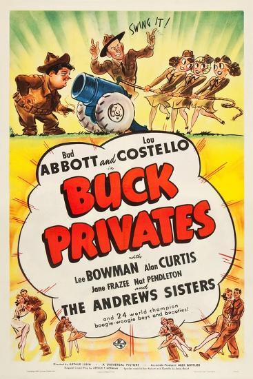 Buck Privates--Art Print