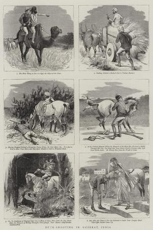 Buck-Shooting in Guzerat, India-William Ralston-Giclee Print