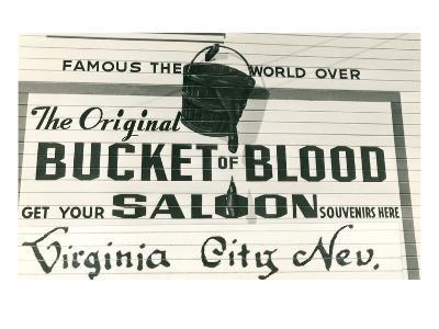 Bucket of Blood Saloon, Virginia City--Art Print