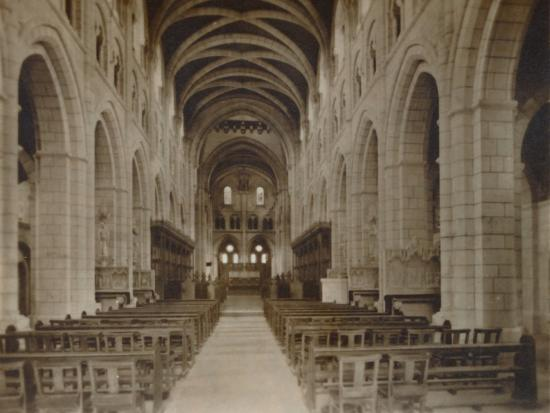 'Buckfast Abbey Church, (Interior)', late 19th-early 20th century-Unknown-Photographic Print