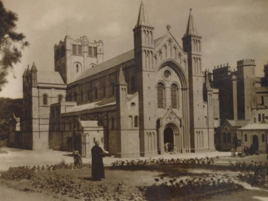 'Buckfast Abbey Church,' (N.W)', late 19th-early 20th century-Unknown-Photographic Print