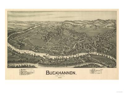 Buckhannon, West Virginia - Panoramic Map-Lantern Press-Art Print