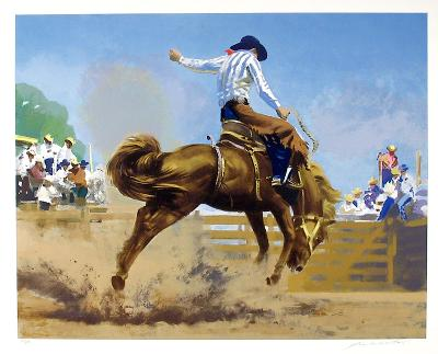 Bucking Bronco-Frank Wootton-Collectable Print