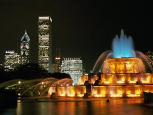 Buckingham Fountain, Grant Park, Chicago, Illinois, USA
