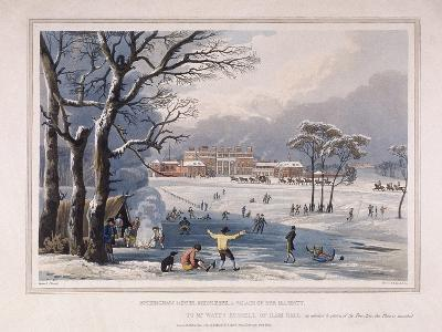 Buckingham House and St James's Park in the Winter, London, 1817-Robert Havell the Younger-Giclee Print