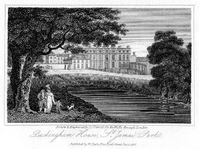 Buckingham House, St James Park, London, 1816-JC Varrall-Giclee Print