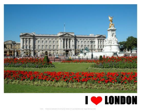 Buckingham Palace, I Love London--Art Print