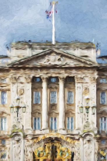 Buckingham Palace - In the Style of Oil Painting-Philippe Hugonnard-Giclee Print