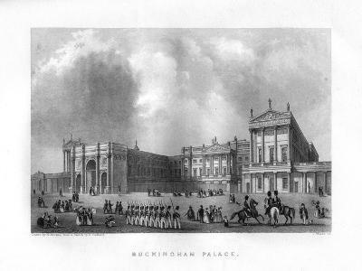 Buckingham Palace, London, 19th Century-J Woods-Giclee Print