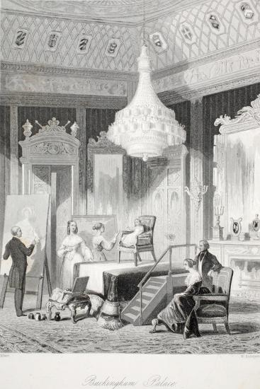 Buckingham Palace - the Princess Royal Sitting for a Portrait-Thomas Hosmer Shepherd-Giclee Print