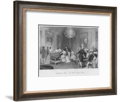 'Buckingham Palace. The Yellow Drawing Room', c1841-Henry Melville-Framed Giclee Print