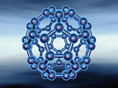 Buckyball also known as Fullerene or Buckminsterfullerene-Matthias Kulka-Giclee Print