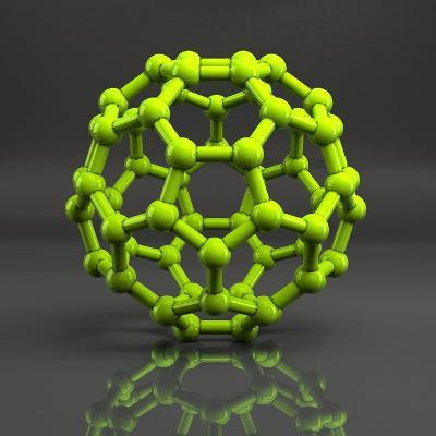 Buckyball Molecule C60, Artwork-Laguna Design-Photographic Print