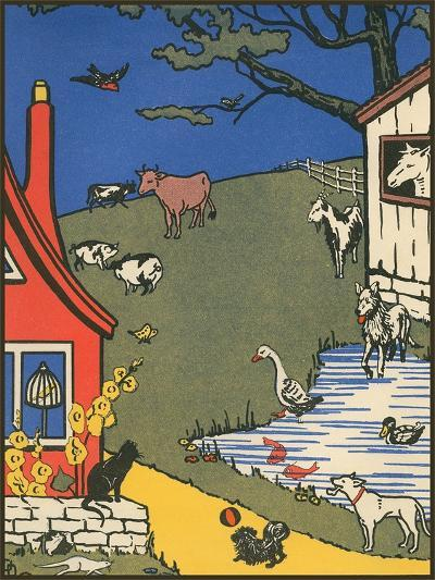 Bucolic Farm Scene--Art Print
