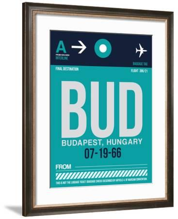 BUD Budapest Luggage Tag II-NaxArt-Framed Art Print