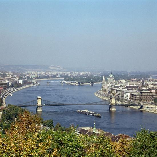 Budapest and the river Danube. Artist: Unknown-Unknown-Photographic Print