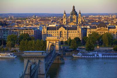 Budapest Skyline and River Danube, UNESCO World Heritage Site, Budapest, Hungary, Europe-Neil Farrin-Photographic Print