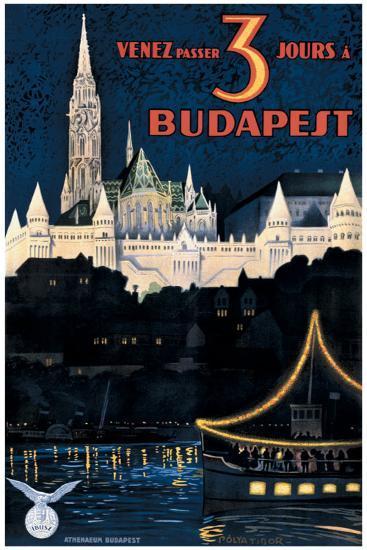 Budapest-Polya Tibor-Giclee Print