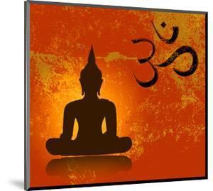 Buddha and Om Symbol