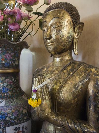 Buddha at Sukhothai Traimit Temple, Bangkok, Thailand, Southeast Asia-Robert Harding-Photographic Print