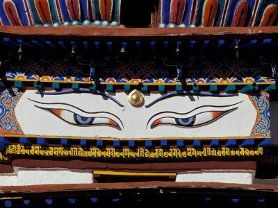 Buddha Eyes at Kumbum, Tibet-Vassi Koutsaftis-Photographic Print
