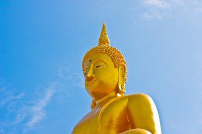 Buddha  Gold Statue-redarmy030-Photographic Print