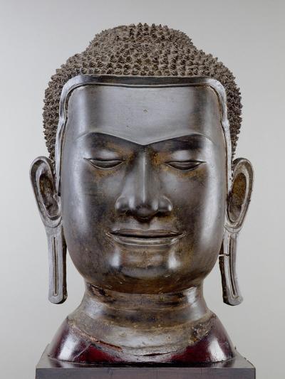 Buddha Head, Ayutthaya Culture, U Thong Style--Giclee Print