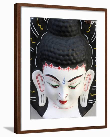 Buddha Head, Paris, France, Europe-Godong-Framed Photographic Print