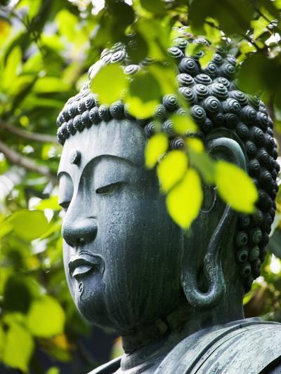 Buddha in Senso-ji Temple Garden-Bruno Ehrs-Photographic Print