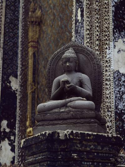 Buddha, Javanese Stylestone Statue, in Library at Temple of Emerald Buddha--Photographic Print
