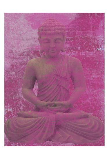 Buddha Meditate-Sheldon Lewis-Art Print