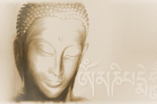 Buddha- Om mani padme hum-Christine Ganz-Art Print