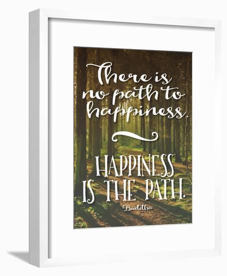 Buddha Path to Happiness-Tara Moss-Framed Art Print