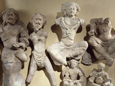 Buddha's Previous Lives, Visvamtara Jataka, Clay Figures from Tumshuq Province--Giclee Print