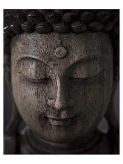 Buddha Sculpture Face--Art Print