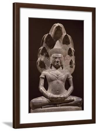 Buddha Sitting in Samadhi--Framed Giclee Print