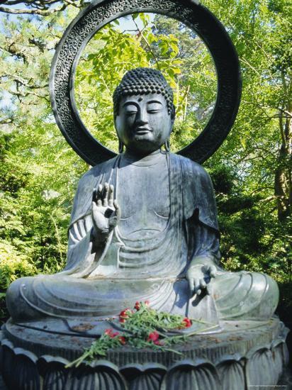 buddha statue 1790 japanese tea gardens golden gate park san francisco california usaby fraser hall - Golden Gate Park Japanese Tea Garden