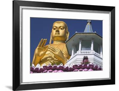 Buddha Statue and Temple Entrance-Jon Hicks-Framed Photographic Print