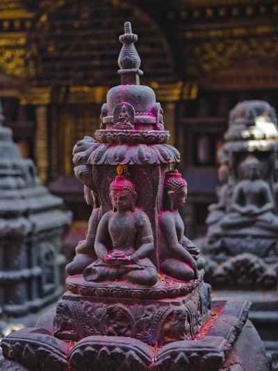 Buddha Statue at Swayambunath Temple, UNESCO World Heritage Site, Kathmandu, Nepal, Asia-Mark Chivers-Photographic Print