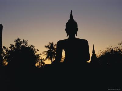 Buddha Statue in the Historical Park, Old Sukothai / Muang Kao, Sukothai, Thailand, Asia-Gavin Hellier-Photographic Print