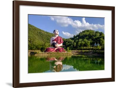 Buddha Win Sein, Mawlamyine (Moulmein), Myanmar (Burma), Asia-Nathalie Cuvelier-Framed Photographic Print