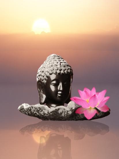 Buddha With Lotus Flower Art Print By Wonderful Dream Art
