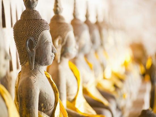 Buddhas at Wat Si Saket, the Oldest Temple in Vientiane, Laos, Indochina, Southeast Asia, Asia-Matthew Williams-Ellis-Photographic Print