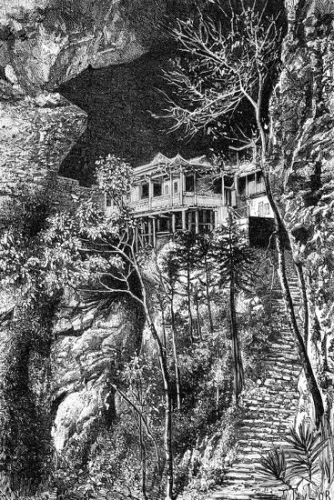 Buddhist Monastery, Yuen-Fu on the Min, South of Fuchu-Fu, C1890-Armand Kohl-Giclee Print