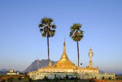Buddhist Pagoda in a Karstic Landscape, Hpa An, Kayin State (Karen State), Myanmar (Burma), Asia-Nathalie Cuvelier-Photographic Print