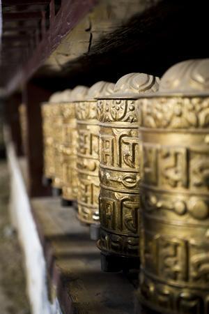 Buddhist Prayer Wheels, Namche Gompa (Monastery), Namche Bazaar, Solu Khumbu Region, Nepal-Ben Pipe-Photographic Print
