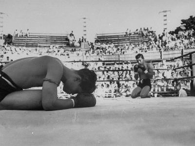 Buddhist Prayers at Beginning of the Prefight Ceremony of Muay Thai Boxing-Jack Birns-Photographic Print
